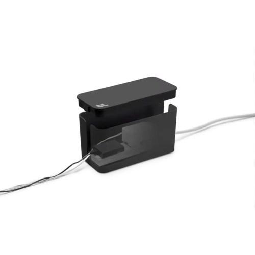 Caja recogecables Cablebox mini negra 1