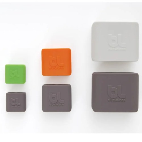 Cable clip mediano (pack 4 naranja/gris)