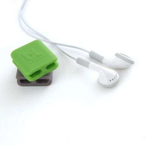 Cable clip pequeño (pack 6 verde/gris) 1