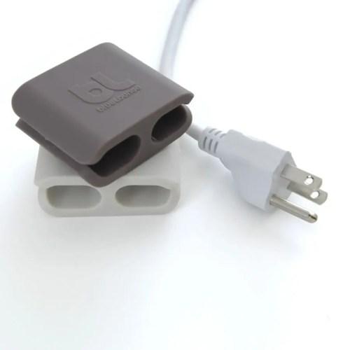 Cable clip grande (pack 2 gris/gris) 1