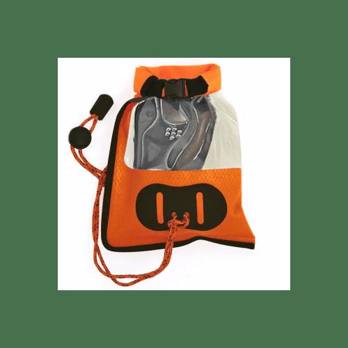Funda Aquapac 035 IPX5 para móvil y GPS pequeña naranja