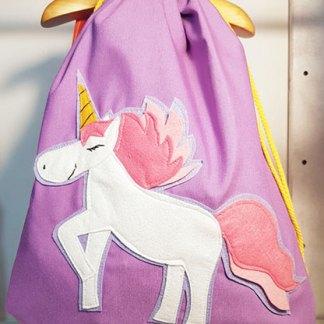 mochila infantil de unicornio