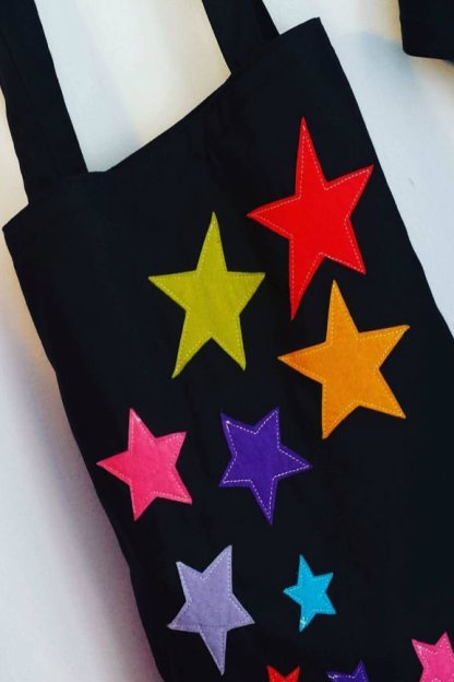 bolso de tela Estrellas