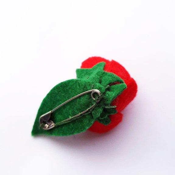 Broche rosa Sant Jordi roja