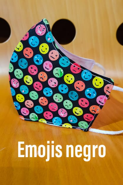 Mascarilla Emojis negro