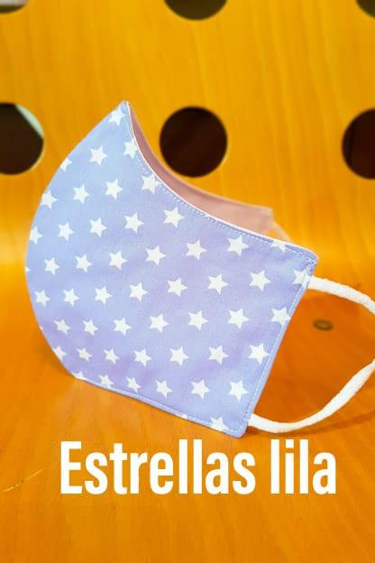 Mascarilla Estrellas Lila
