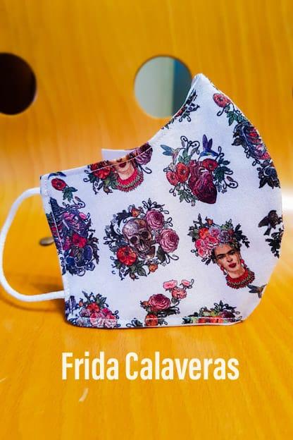 Mascarilla Frida calaveras