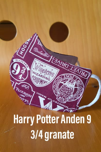 Mascarilla Harry Potter Anden 9 3/4 granate