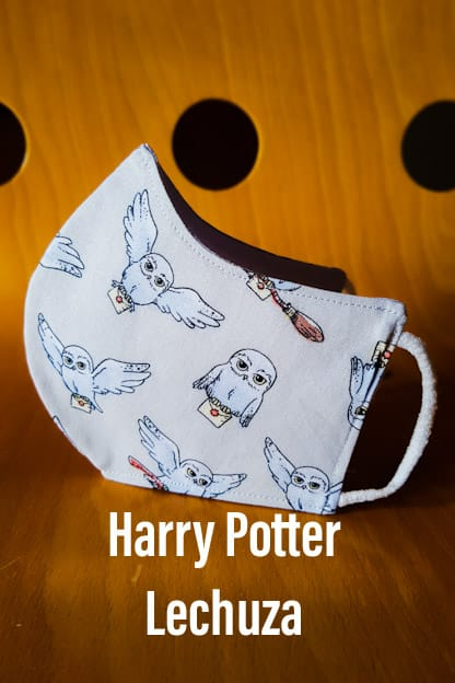 Mascarilla Harry Potter Lechuza