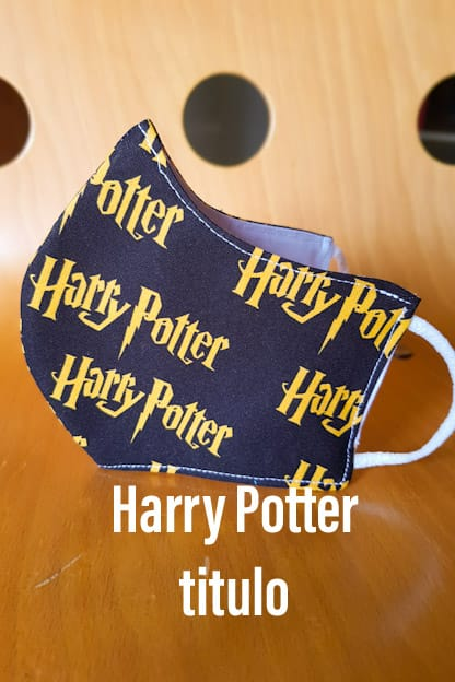 Mascarilla Harry Potter titulo