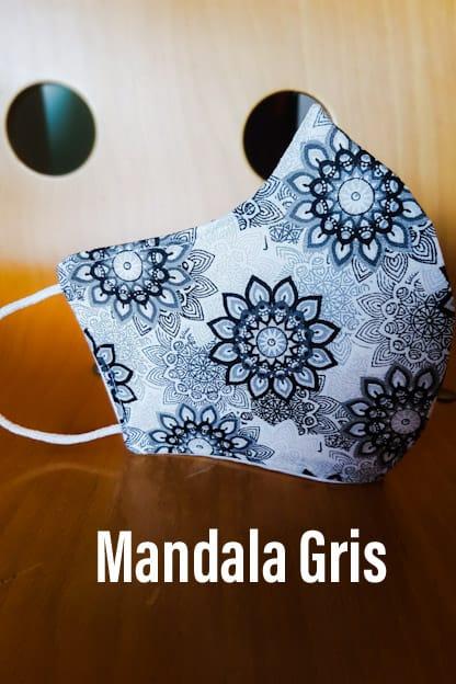 Mascarilla Mandala gris