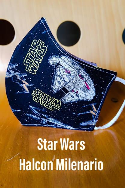 Mascarilla Star Wars Halcon Milenario