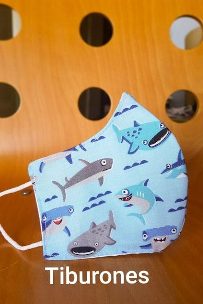 Mascarilla Tiburones