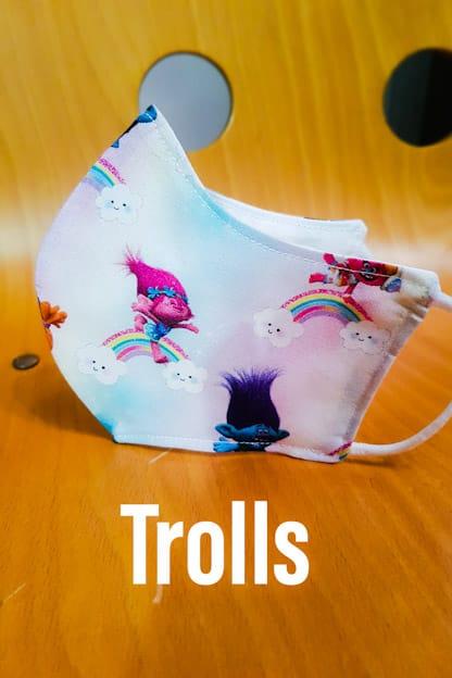 Mascarilla de tela Trolls