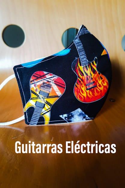 mascarilla Guitarras Electricas