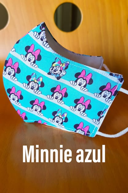 mascarilla Minnie azul