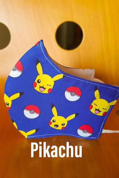 mascarilla Pikachu azul