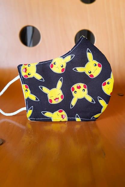 mascarilla Pikachu negro