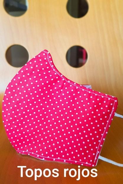 mascarilla Topos rojos