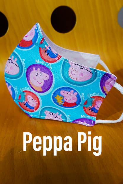 mascarilla de tela homologada Peppa Pig