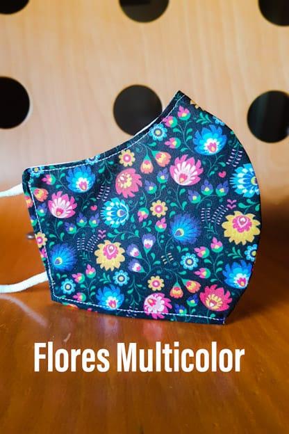 mascarilla Flores multicolor
