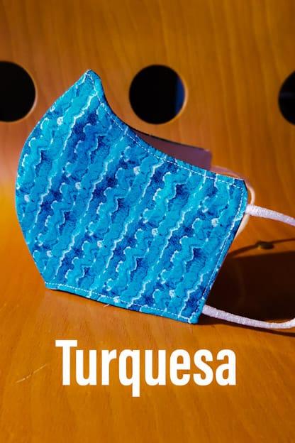 mascarilla turquesa