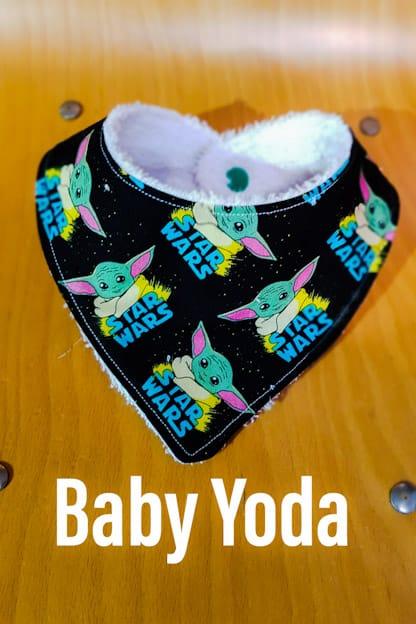 Bandana babero bebe Baby Yoda