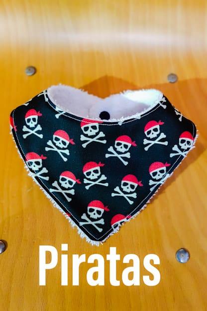 Bandana babero bebe Piratas