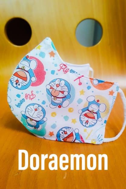mascarilla de tela reutilizable Doraemon