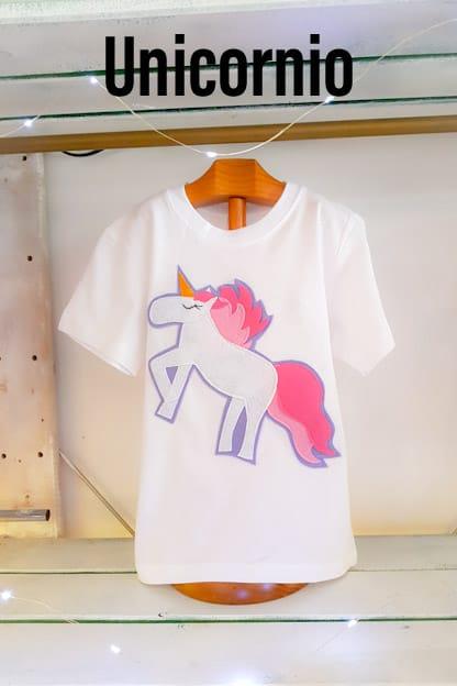 camiseta infantil Unicornio