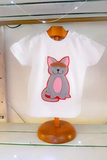 camiseta infantil gatito