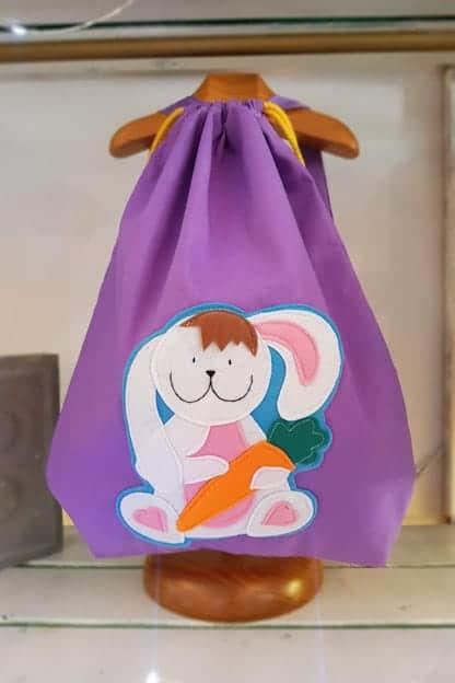 mochila infantil Conejito lila