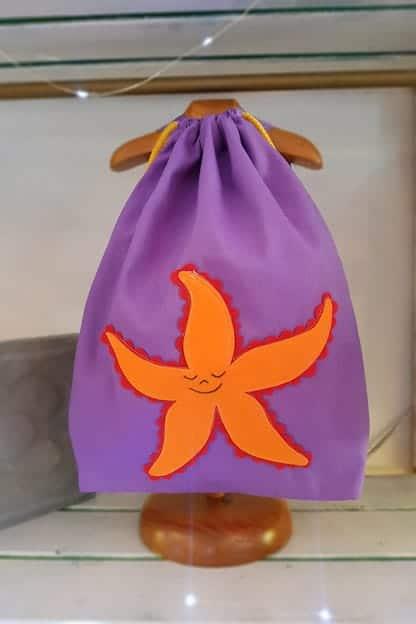 mochila infantil Estrella de mar lila