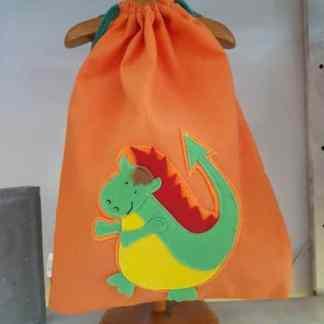 mochila infantil Drac naranja
