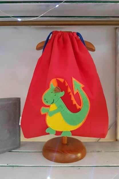 mochila infantil Drac rojo