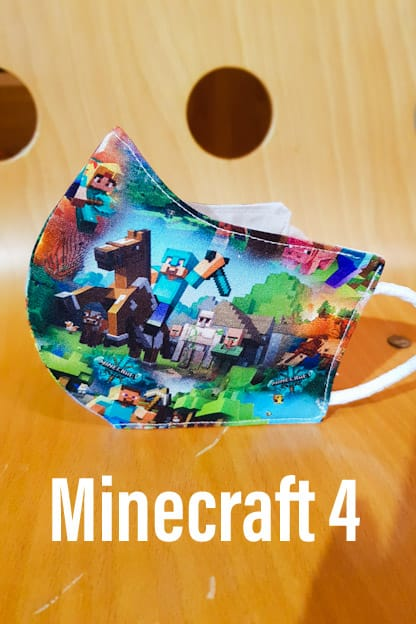 mascarilla de tela Minecraft 4