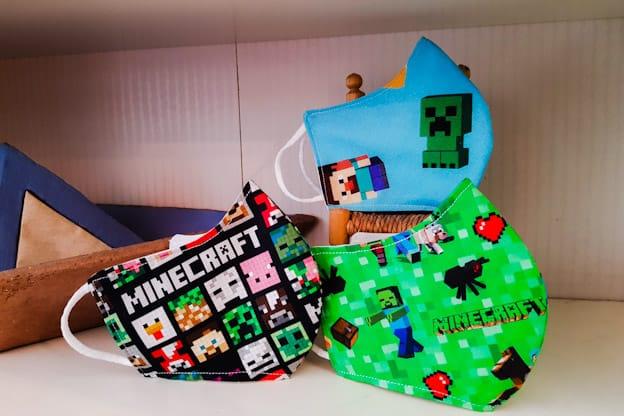 Mascarillas infantiles Minecraft