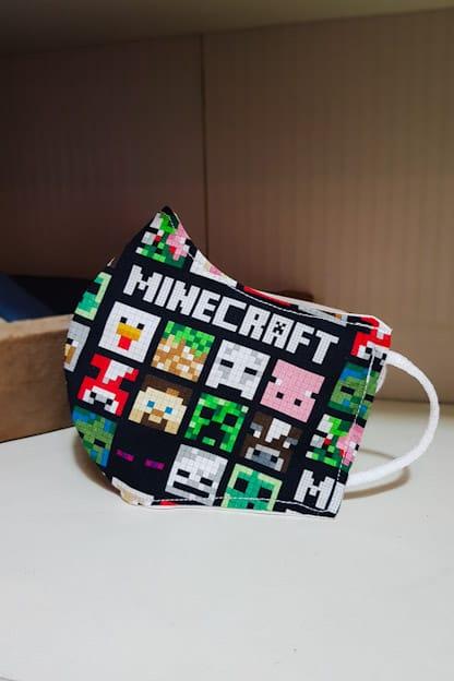 Mascarillas infantiles de tela Minecraft