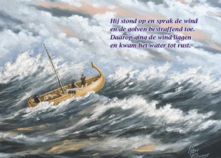 Christelijke spelletjes: wenskaart met Galilea-meeting
