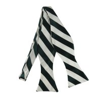 SDS-3720 | Self Tie Forest Green and White College Stripe ...