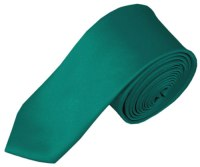 SK-84 | Solid Teal Green Skinny Tie For Men
