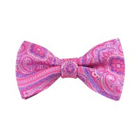 DB-02B | Pre-Tied Pink, Fuchsia and Purple Woven Paisley ...
