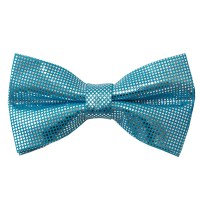 Powder Blue Metallic Bow Tie by Manzini Neckwear