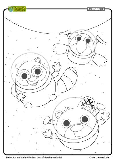 Malvorlage Astronauten
