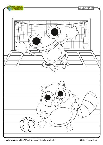 Malvorlage Fußball Frosch