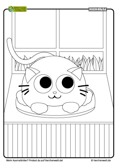 √ malvorlagen tiere katzen  malvorlage katze schlaft