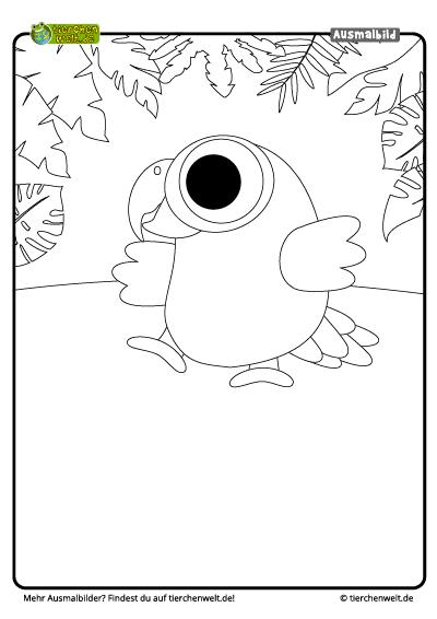 Malvorlage Papagei