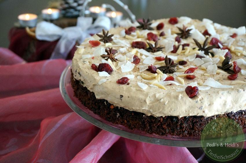 Dattel Cranberry Torte Mit Bananen Zuckerfrei Glutenfrei Vegan
