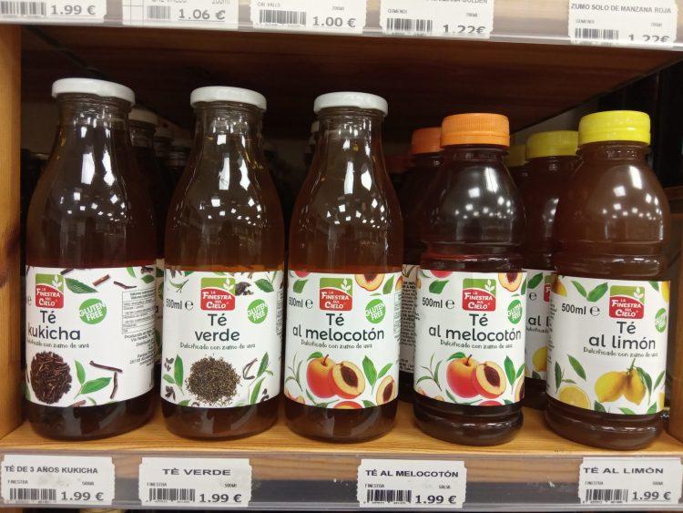 Botellas de té