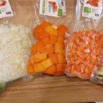 Verduras envasadas